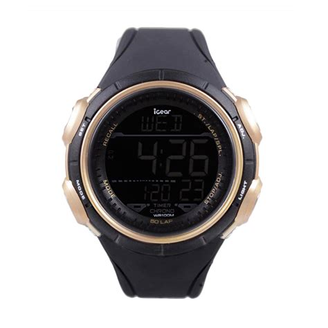 Watches Igear Black harga igear i41 1928 jam tangan pria black gold