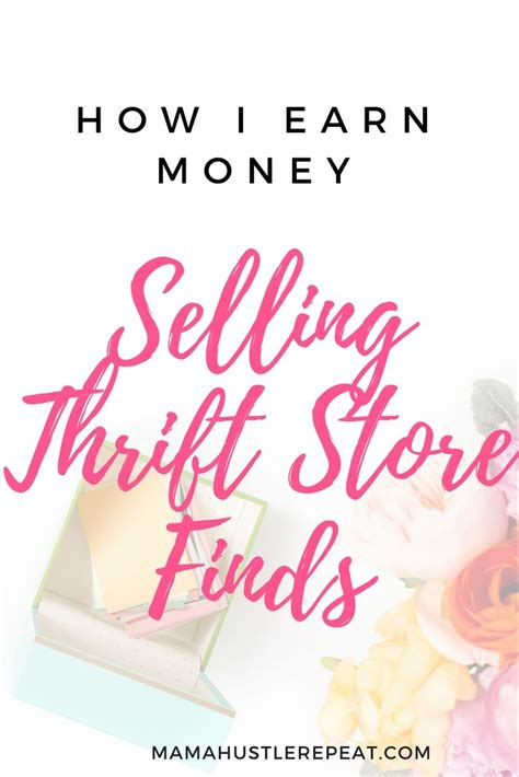 learn how i make money from home by reselling thrift store