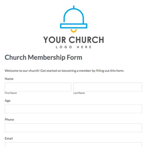 church membership form template toreto co
