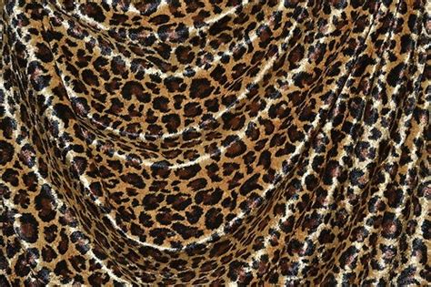 Leopard Print Velvet Upholstery Fabric by Leopard Print Crushed Panne Velvet Gold Brown Black 60
