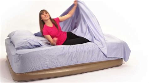 airmattress insta bed pillow top neverflat air mattress with built in