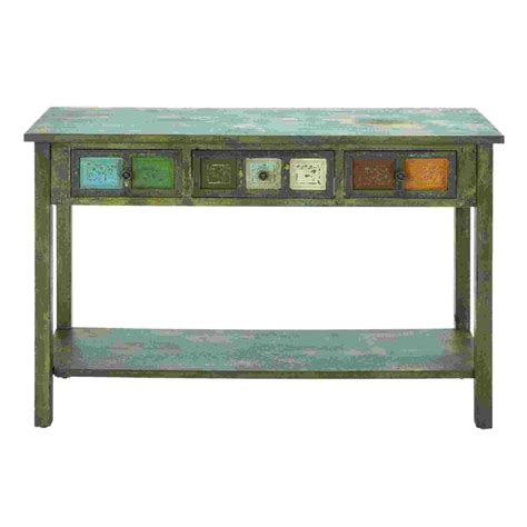 multi colored console table woodland imports 69275 woodcraft multi colored console table