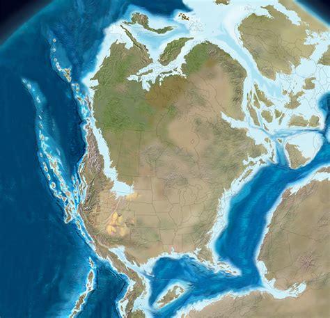 jurassic map america jurassic period