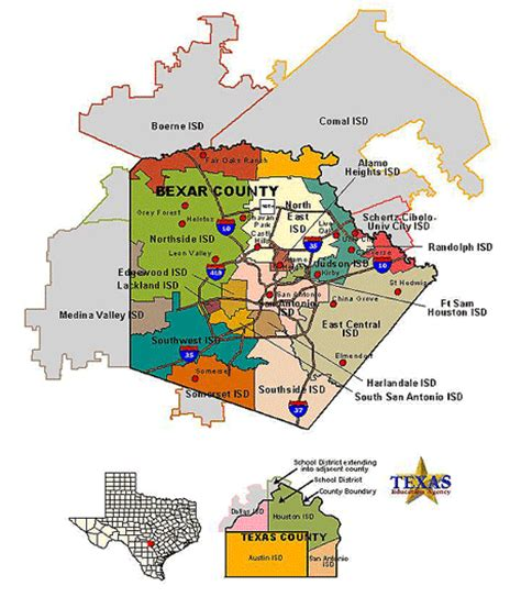 texas independent school districts map bexar county school districts