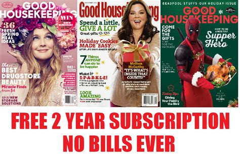 cancel magazines free two year subscription to good housekeeping magazine