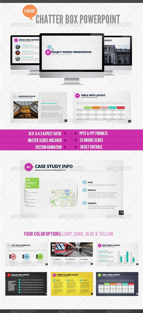 Chatterbox Powerpoint Presentation Templates Template And Indesign Templates Indesign Presentation Templates