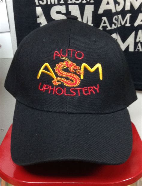 Asm Auto Upholstery T Shirts by Vintage Asm Baseball Cap Asm Auto Upholstery