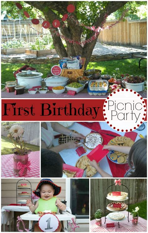 Kitchen Decorating Ideas Colors by A Picnic Themed Birthday Party Evolving Motherhood