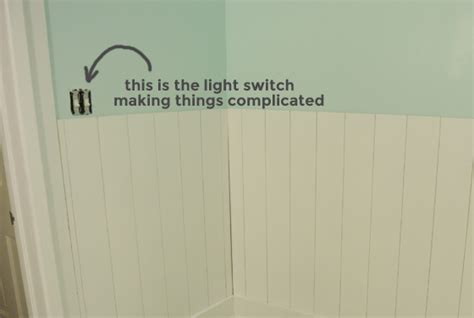moulding around light switch diy plank wainscoting with plywood part two burritos