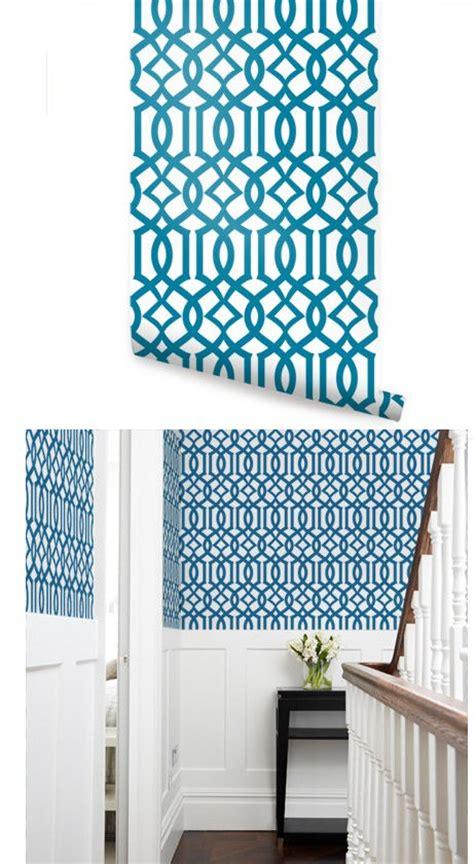 modern trellis wallpaper peel and stick modern trellis blue peel and stick wallpaper