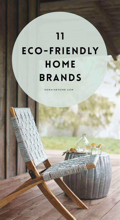 eco friendly decor brands    chic eco