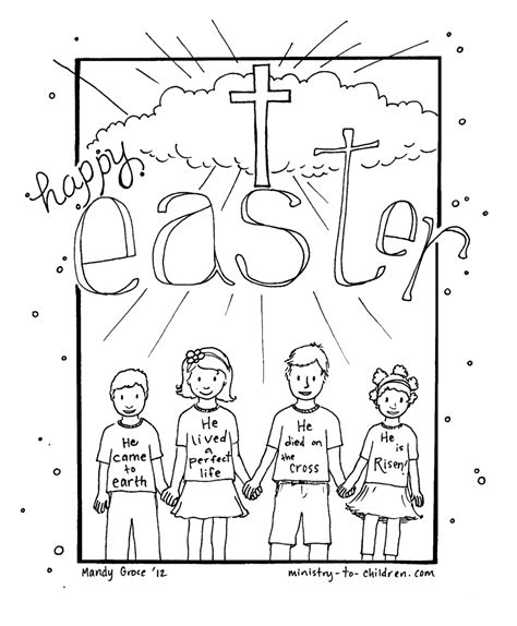 coloring page easter jesus free he has risen coloring pages