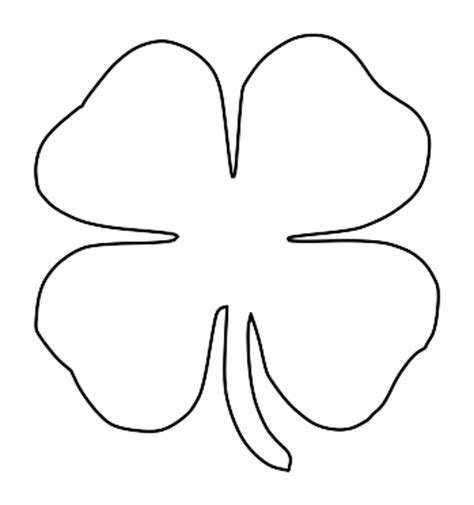 4 leaf clover template four leaf clover template clipart best