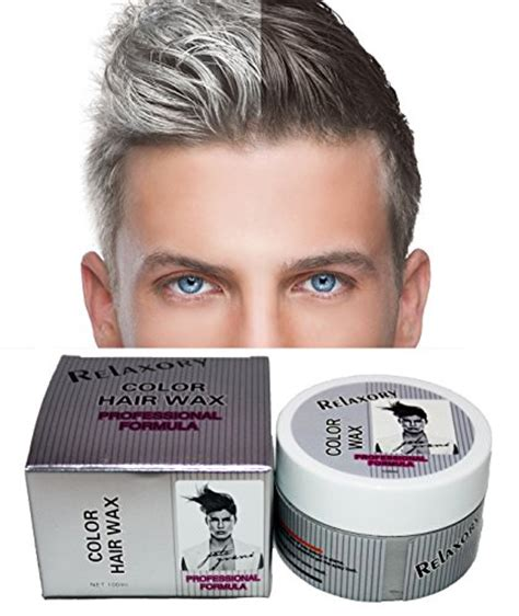 Hairstyle Wax Grey by Relaxory Temporary Color Hair Wax Molding Clay Gery White