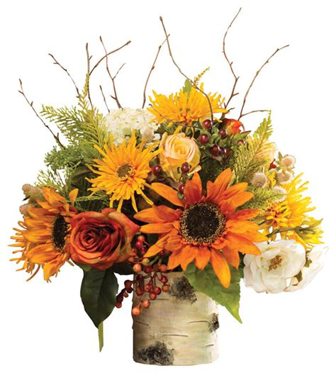 silk flower arrangements autumn silk flower centerpiece contemporary