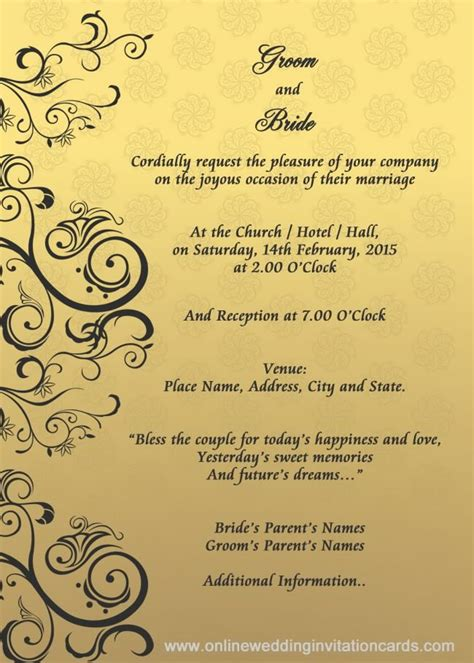 Wedding Invitation Samples Free Download View Enlarged Image Marriage Invitations Cards EWC0007