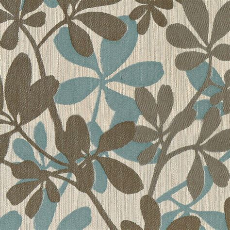 Upholstery Fabric Modern by Teal Taupe And Beige Leaves Woven Upholstery