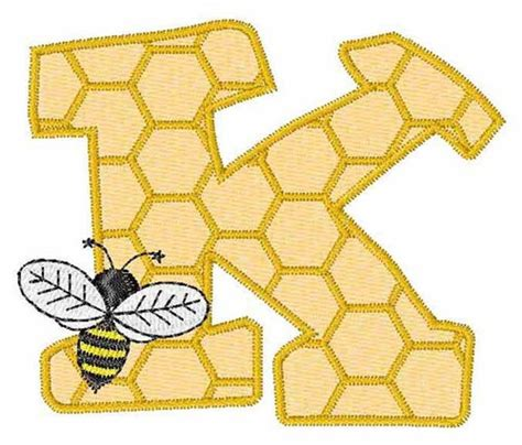 honeycomb pattern font bugs embroidery design honeycomb font k from embroidery