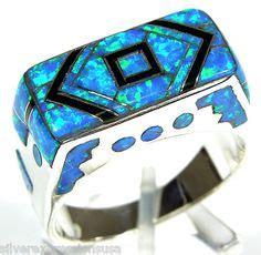 Silver Ring Sv18 Blue Topaz Batu Permata Cincin Perak cincin pria model retro vintage berbahan perak ring 18mm dengan ukiran dilengkapi batu tiger eye
