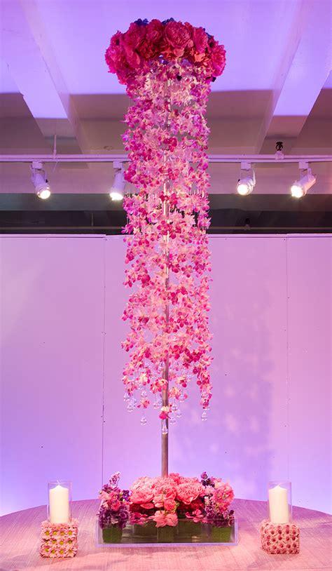 tall centerpieces for a hot pink wedding prestonbailey com