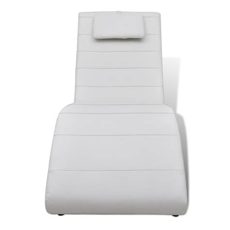 white chaise lounge cushion chaise lounge white 2 legs with cushion www vidaxl com au