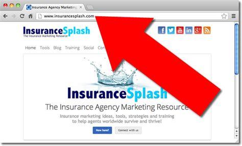 choose  domain    insurance agency website