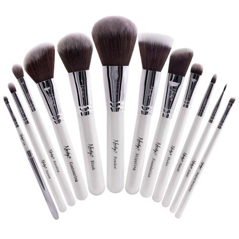 Makeup Brush Set buy masterful collection pearlescent white make up brush set