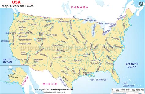 map of usa bodies of water us river map map of us rivers