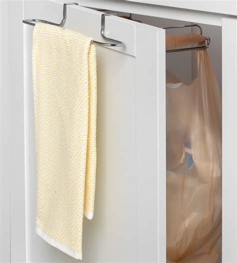 Cabinet Door Holder Cabinet Door Grocery Bag Holder With Towel Bar In Plastic Bag Recyclers
