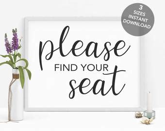 Please Find Your Etsy Find Your Seat Template