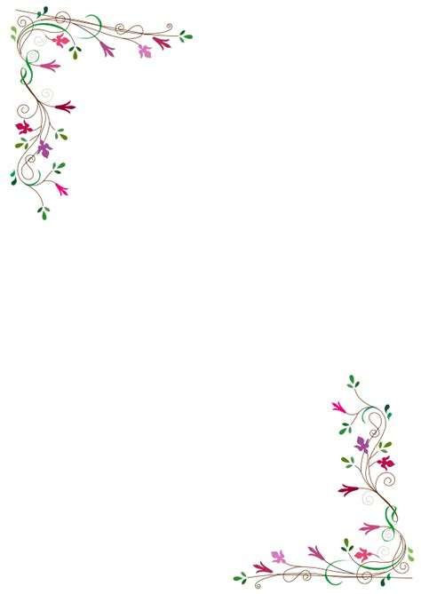 thick flowery border clipart free collection