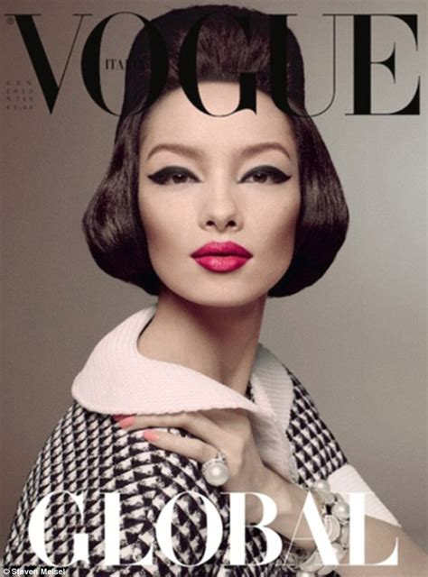 230 Vogue Covers History Of Fashion In Pictures by Asian Model To Grace The Cover Of Italian Vogue