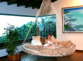 hammock bed indoor floating bed hammock interior design ideas