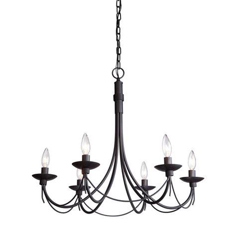 Filament Design Chasles 6 Light Black Chandelier Cli Filament Chandelier