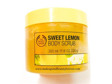 Scrub The Shop the shop sweet lemon scrub review