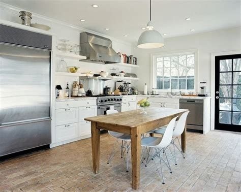 white kitchens with floors 10 brick floor design ideas we