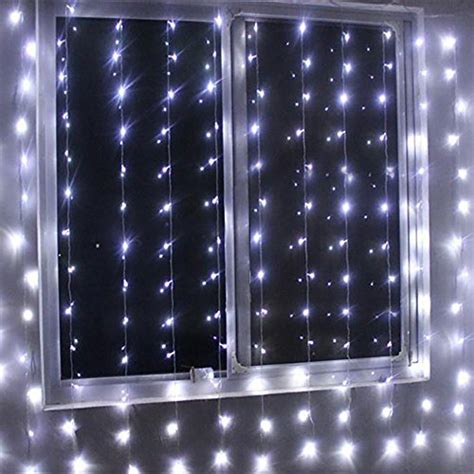 Echosari 174 1000 Led Curtain Lights Indoor Outdoor Window Lights Indoor