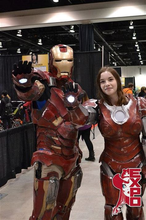 calgary expo iron man woman avengers cosplay