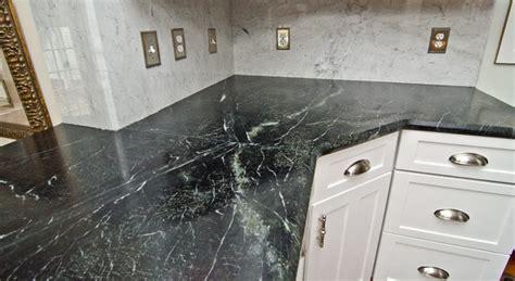 Soapstone Backsplash Soapstone Counters With White Carrara Marble