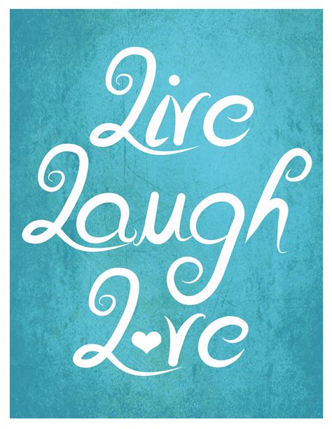 live laugh typography poster art