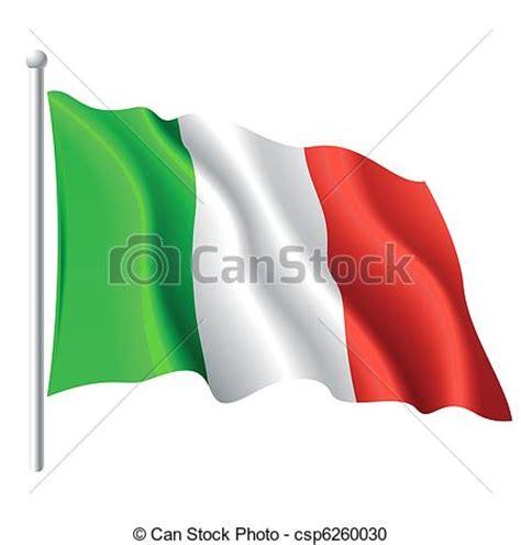 clipart bandiere clipart vettoriali di bandiera italia vettore
