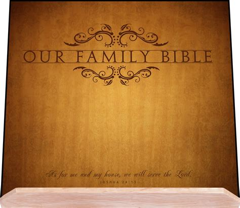 Scripture Wall Art Home Decor Our Family Bible Stand At Lordsart Com