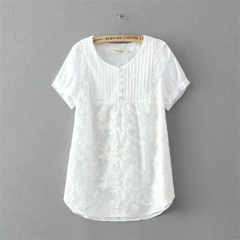Blouse Katun White cotton tops designs for www imgkid the image kid has it