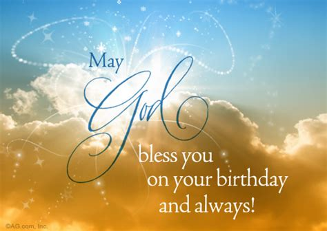 Happy Birthday May God Fulfill All Your Wishes Quot Heaven Sent Wish Postcard Quot Birthday Postcard Blue