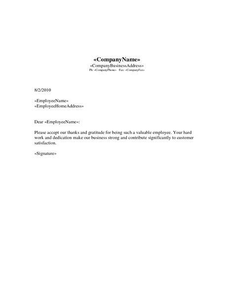 appreciation letter on target achievement best photos of appreciation letter to employee for