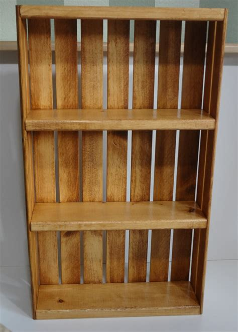 spice rack or knick knack display wall by woodencrategallery