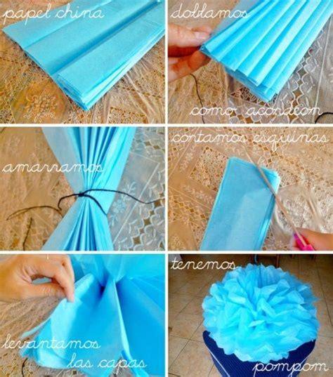 como hacer decoraciones con papel c 243 mo hacer paso a paso flores o pompones con papel de seda