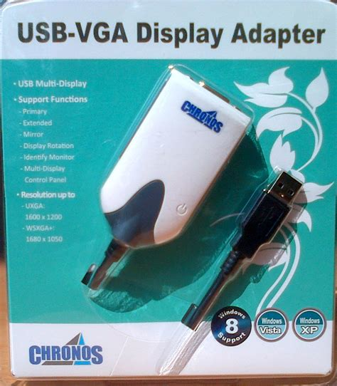 Chronos Usb 20 To Vga Display Adapter 1 jual harga chronos usb 2 0 to vga display adapter