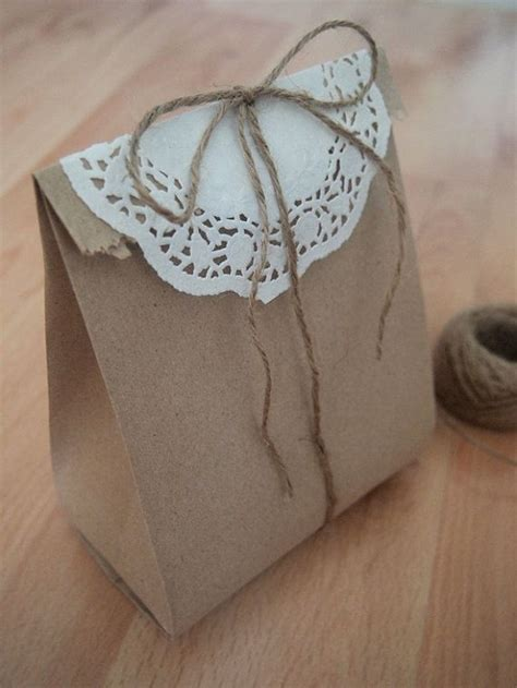 40 lovely recycled brown paper bags craft packaging gift