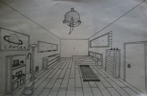 one point perspective bedroom drawings one point perspective dream bedroom by weissdrum on